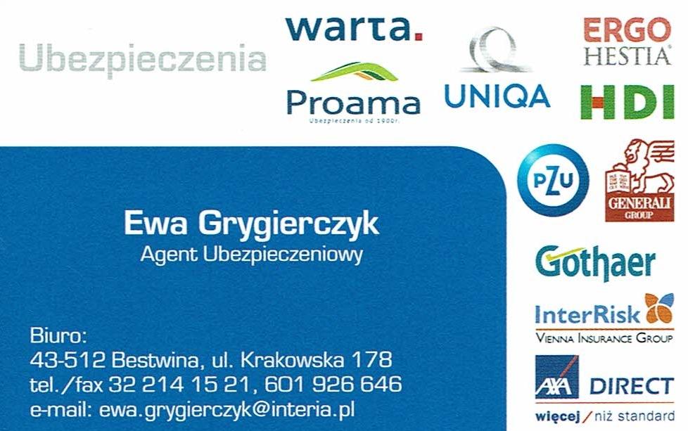 Ubezpieczenia Ewa Grygierczyk
